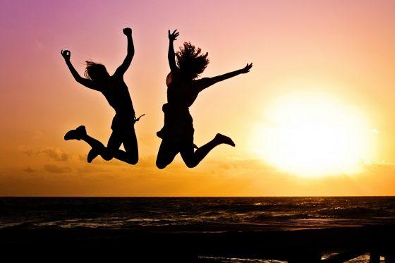 飛び上がって喜びたい気分