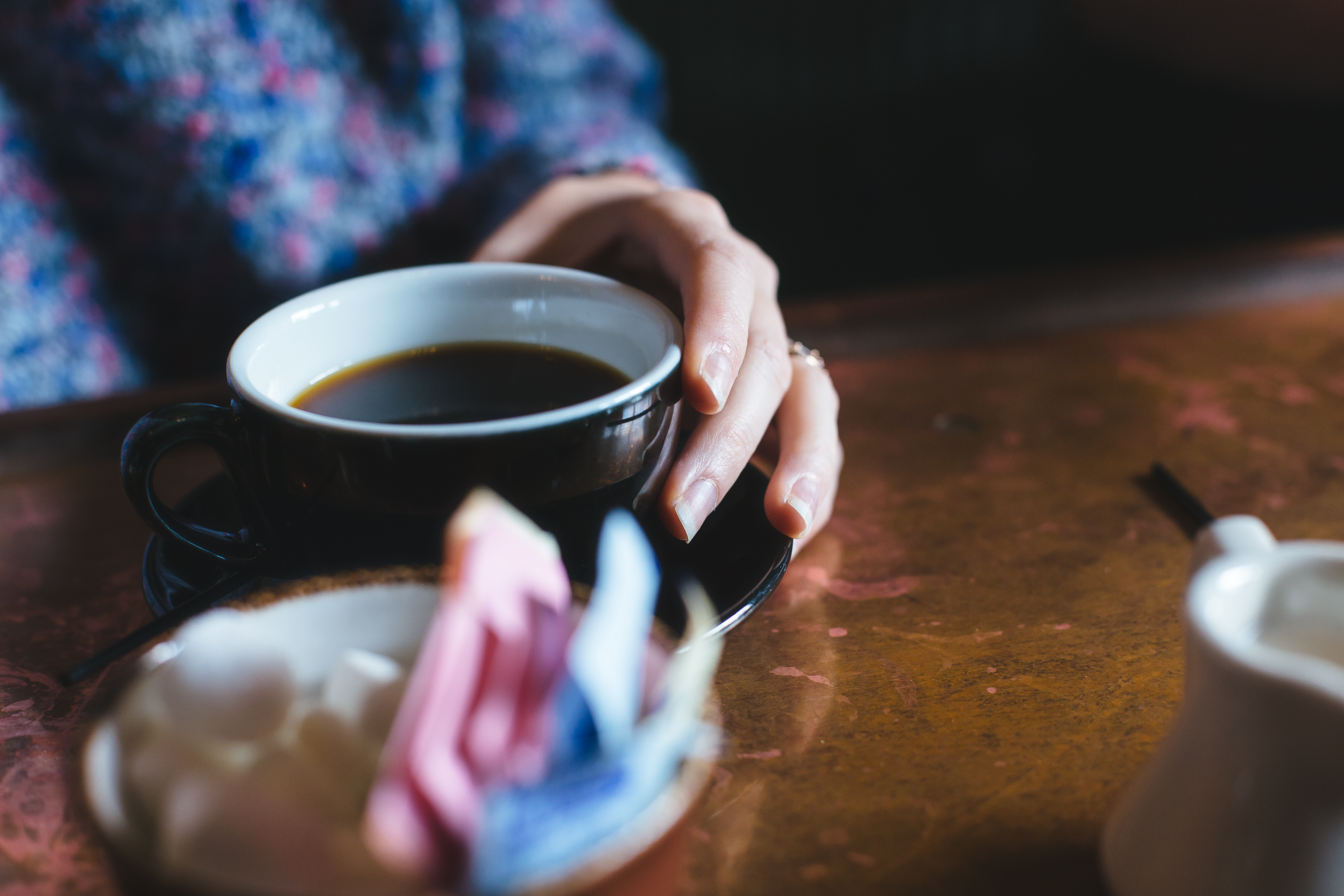 カフェでコーヒーのみながらお話