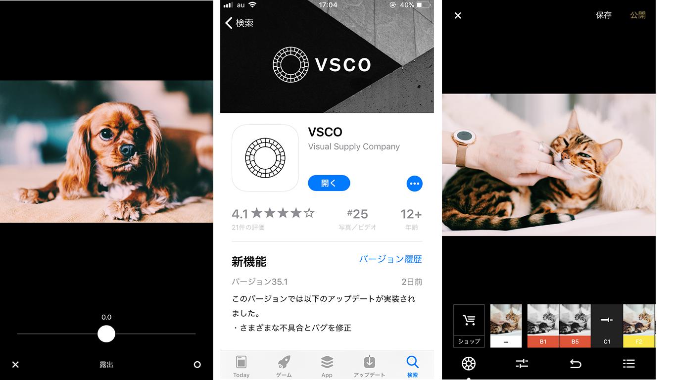 おしゃれに加工するなら「VSCO」