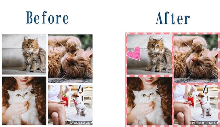 コラージュは「Pic collage」