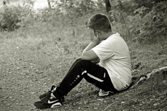 ペットを失い悲しむ少年